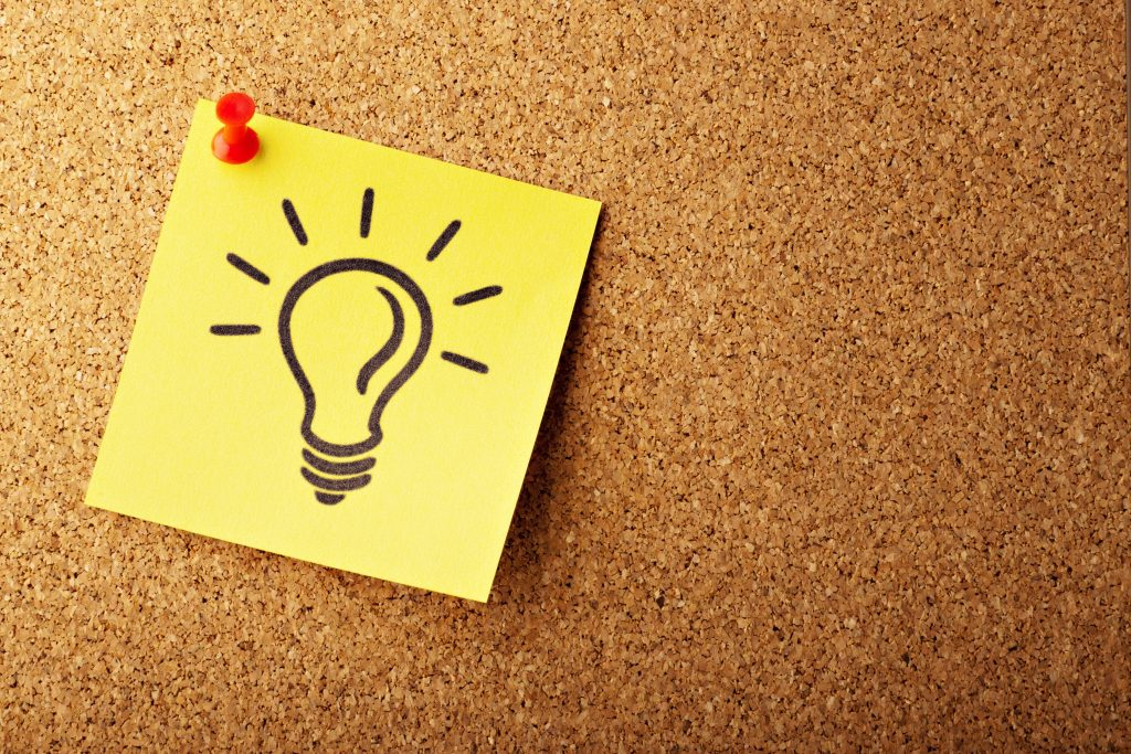 アイデアを出すのは実は簡単、難しいのは実行です。