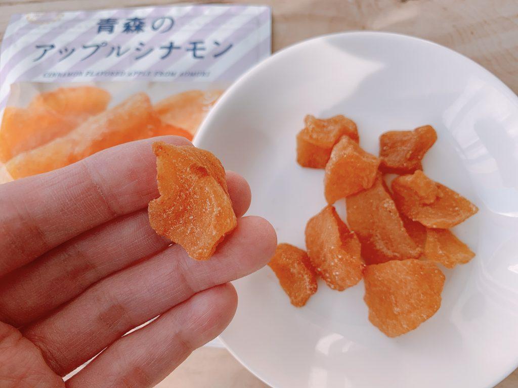 青森のアップルシナモンの香りも食感も楽しめる