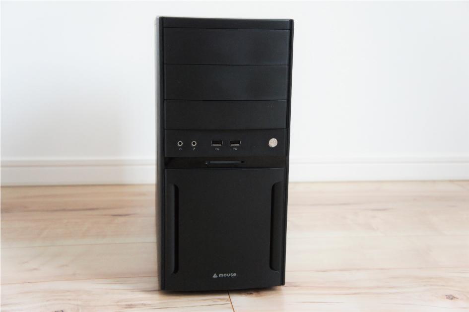 マウスコンピューターのデスクトップパソコン、ミニタワー型正面