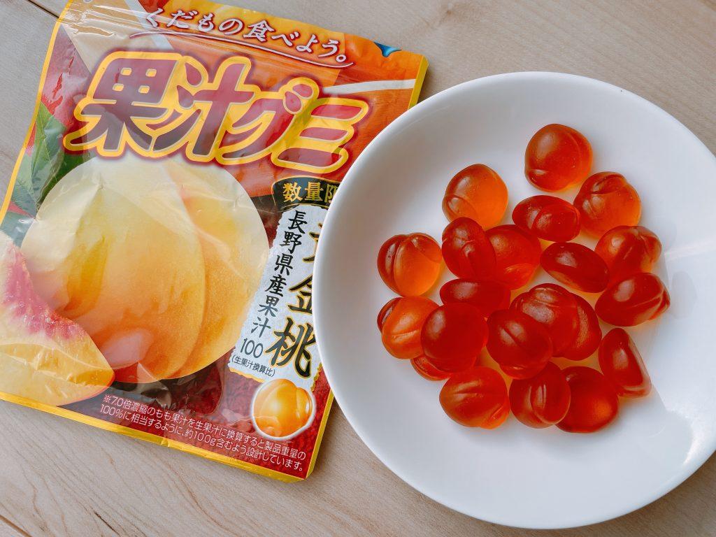 果汁グミ黄金桃の中身