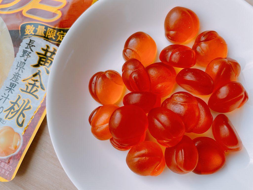 果汁グミ黄金桃は数量限定