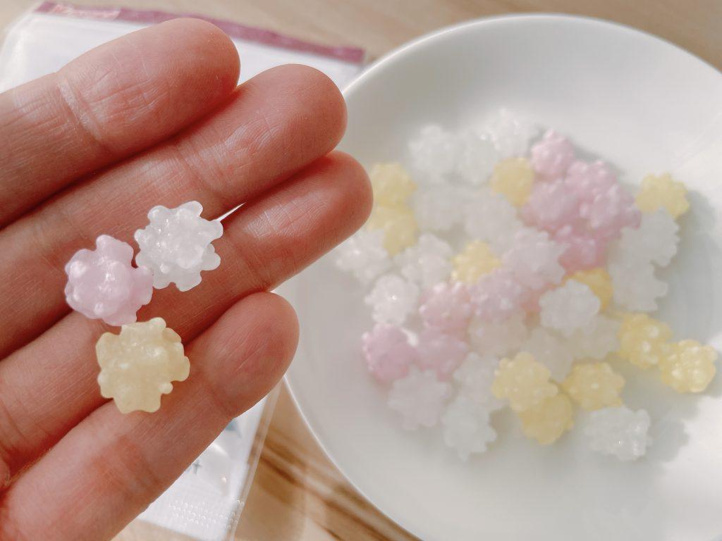 春日井こんぺいとうの3種類の味