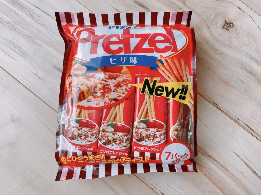 プレッツェルピザ味のパッケージ