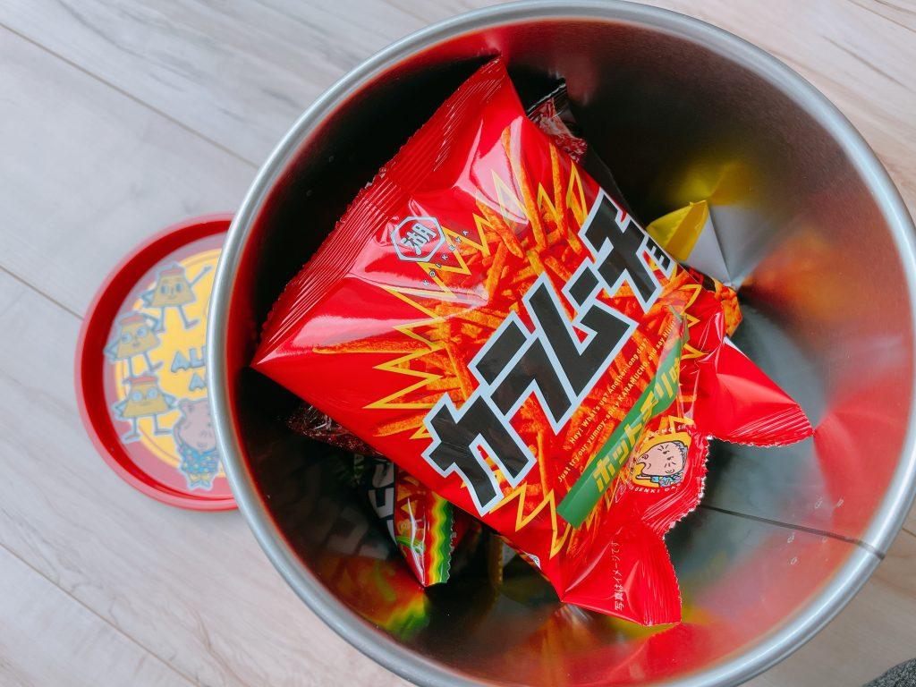 コイケヤオールスターアソート缶の開封
