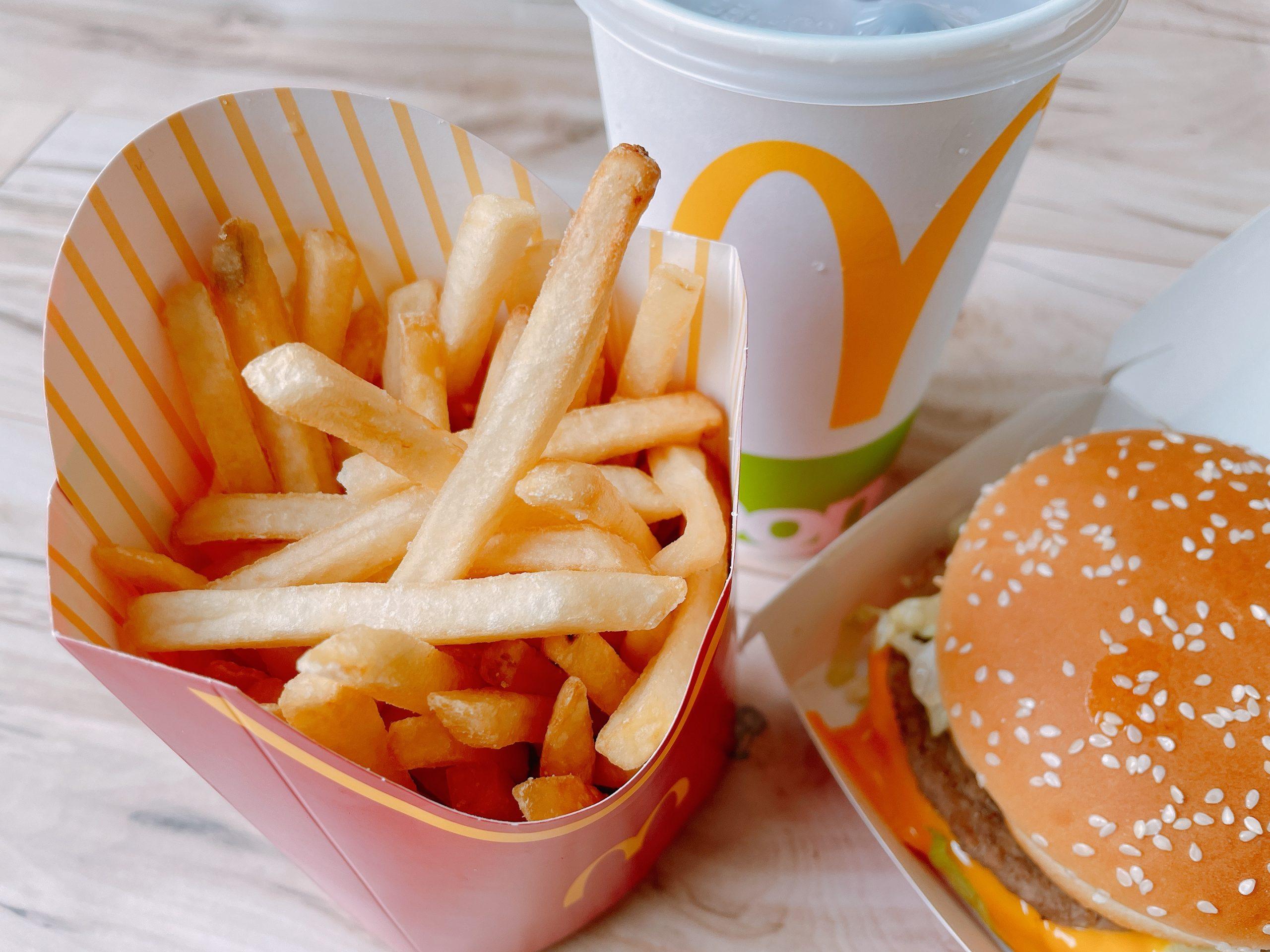 マクドナルドのビッグマックセットのポテト