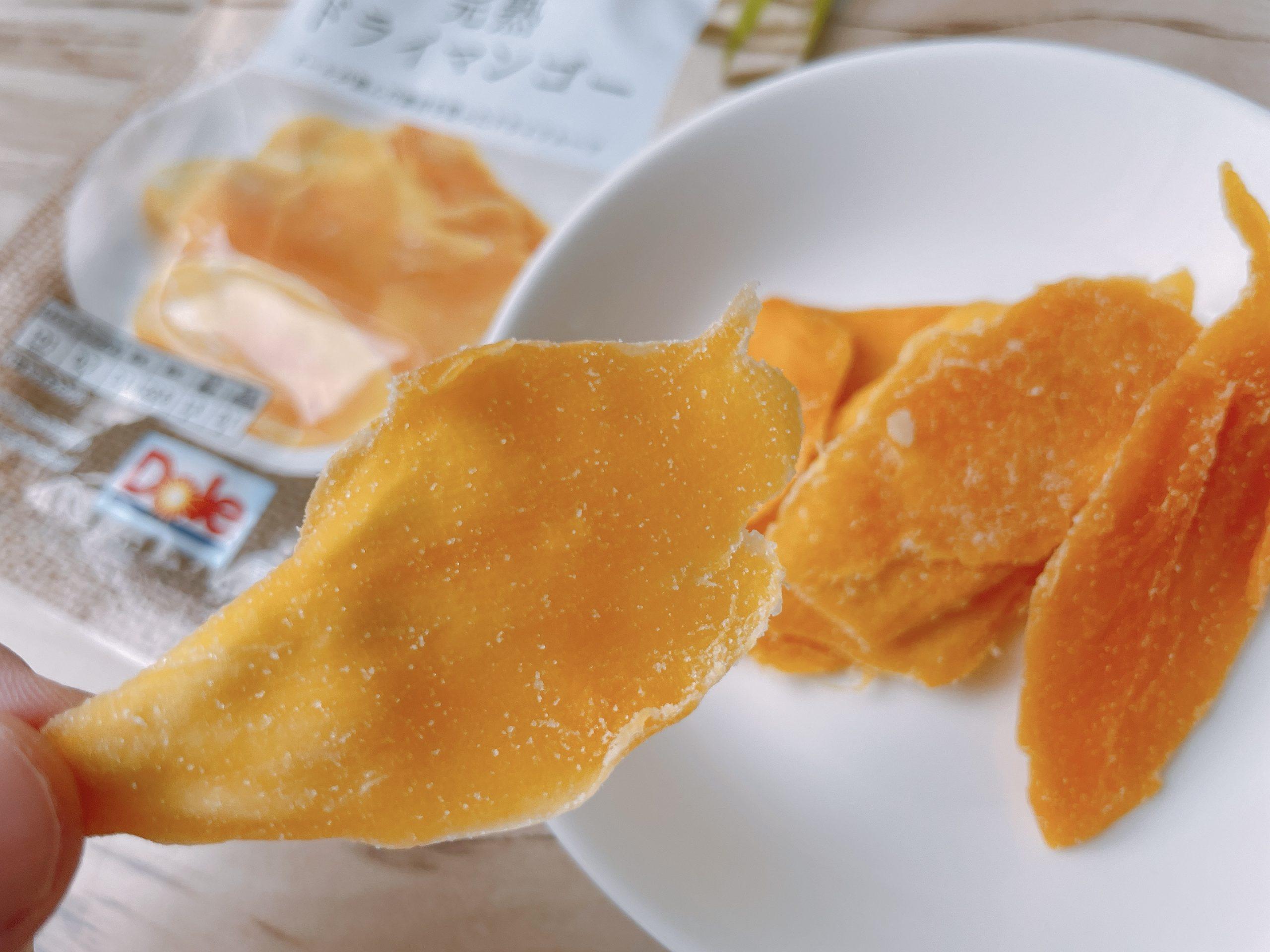完熟ドライマンゴーはクセのある味
