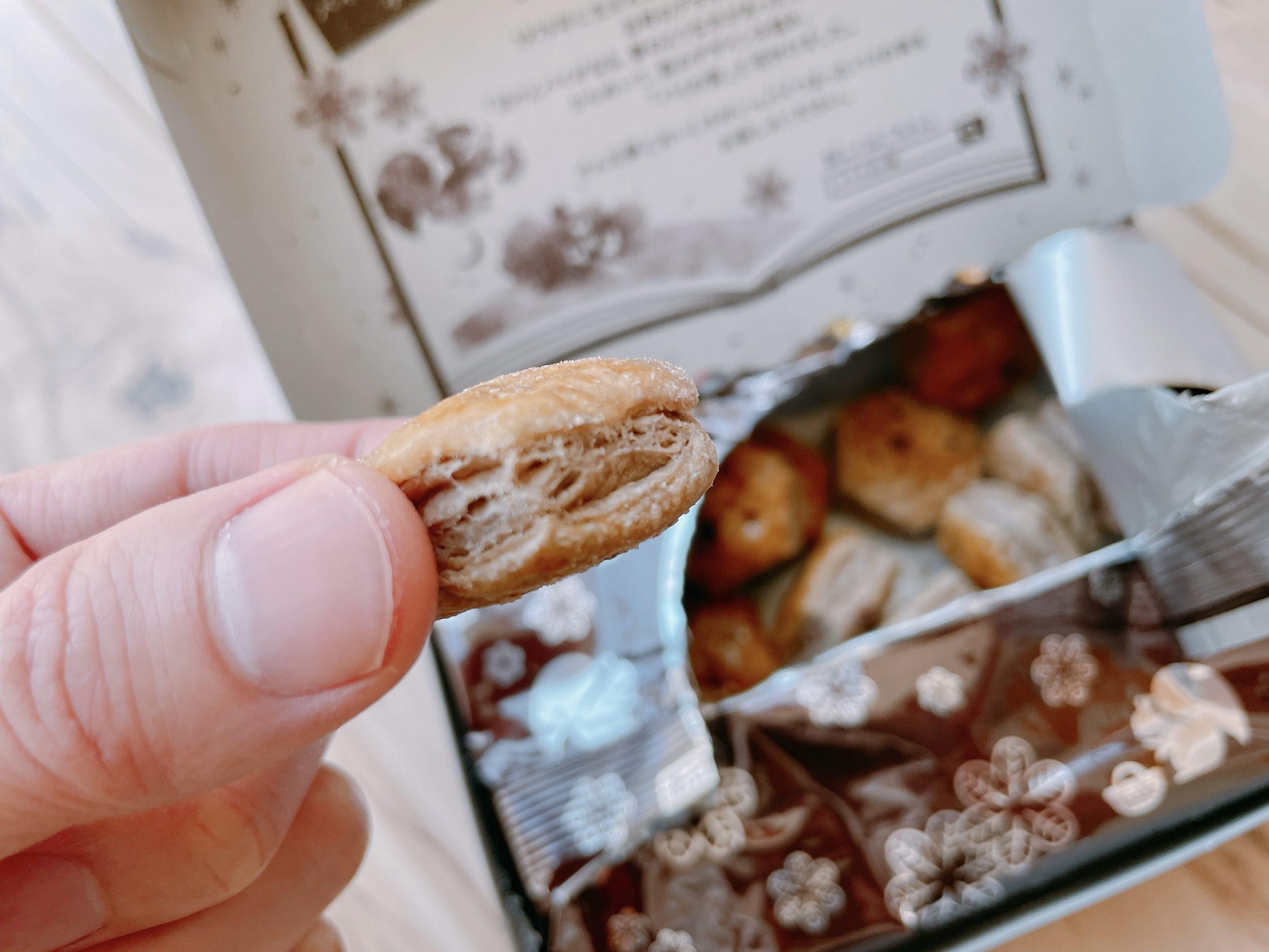 パイの実深みショコラは、パイ生地がココアパイ