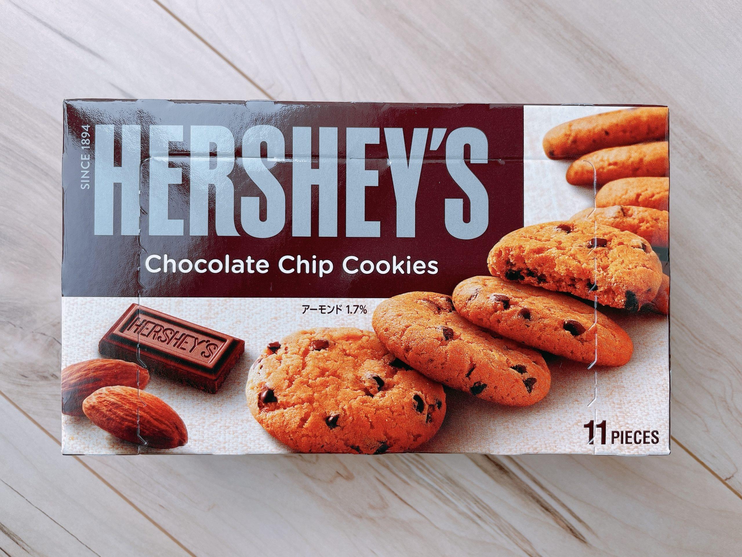 ハーシーチョコチップクッキーのパッケージ