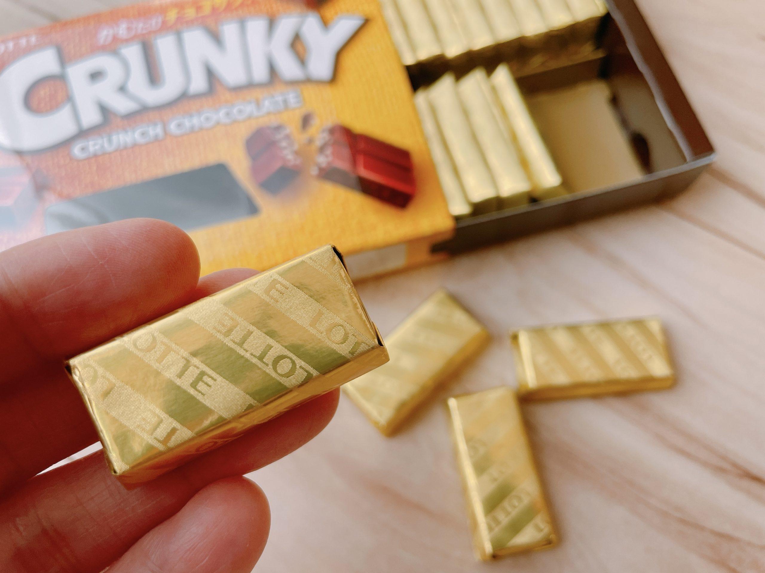 クランキーチョコレートエクセレント個包装のデザイン