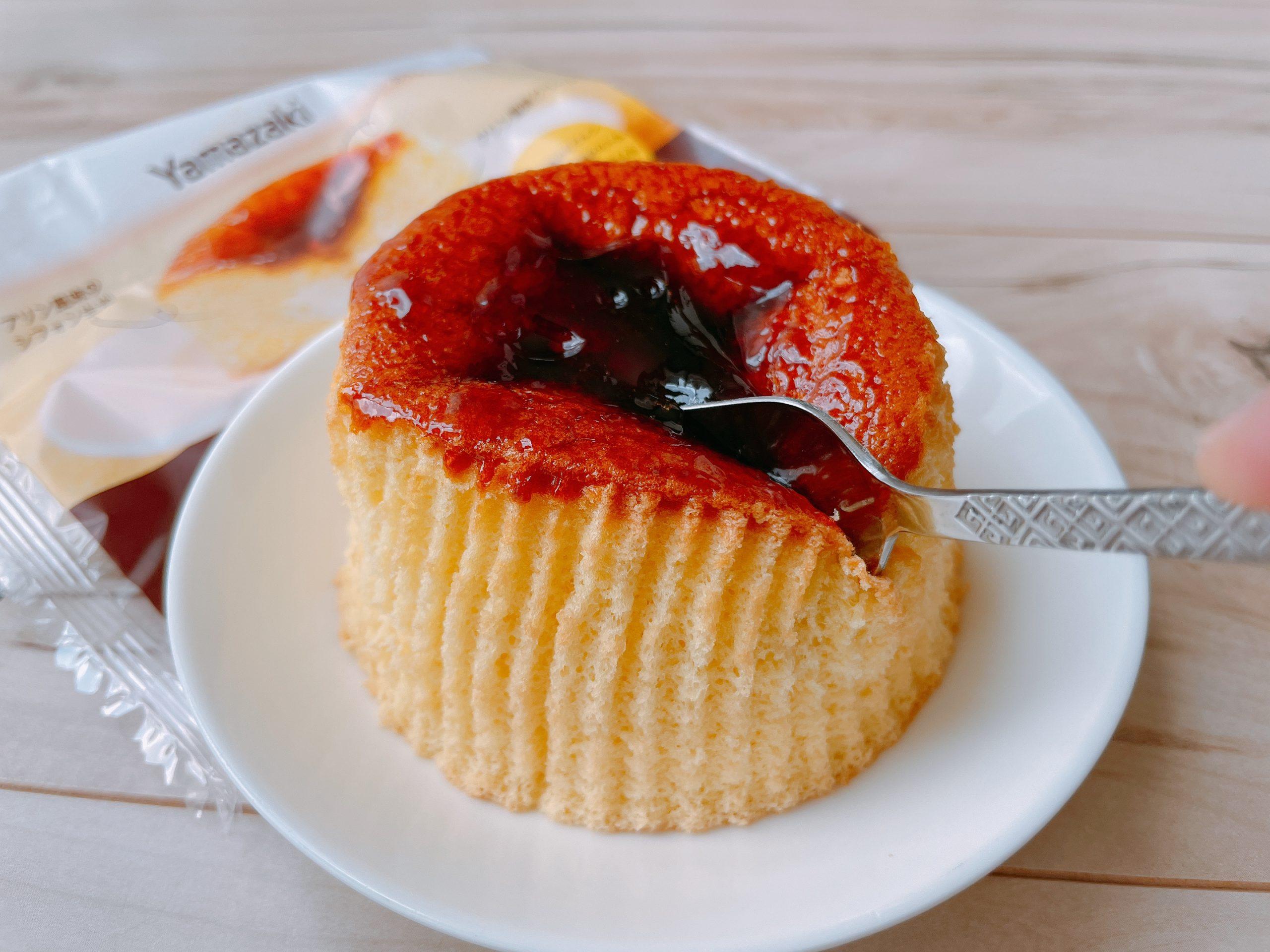 プリン風味シフォンケーキのシフォンケーキはふっかふか