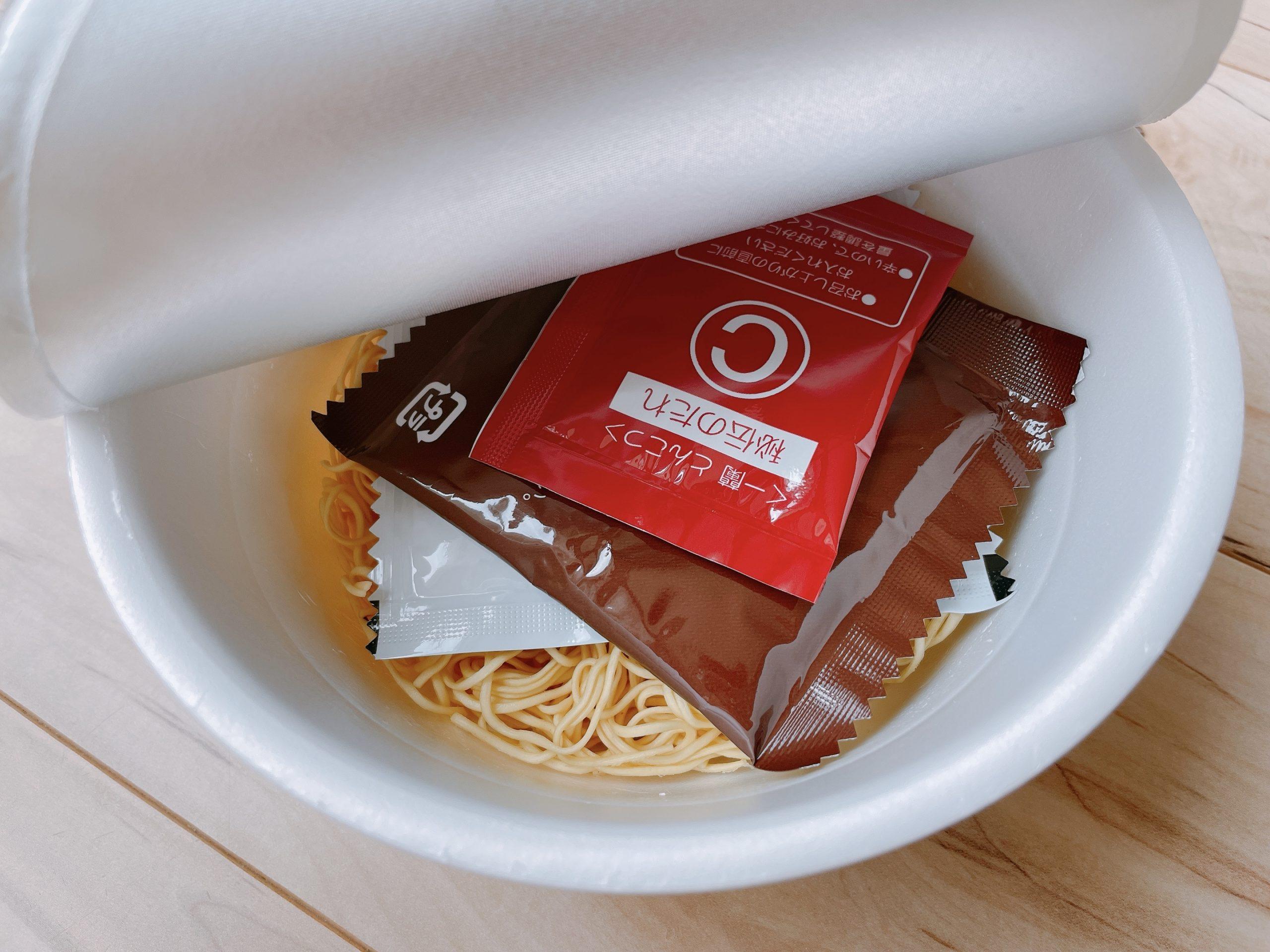 一蘭カップ麺の中身