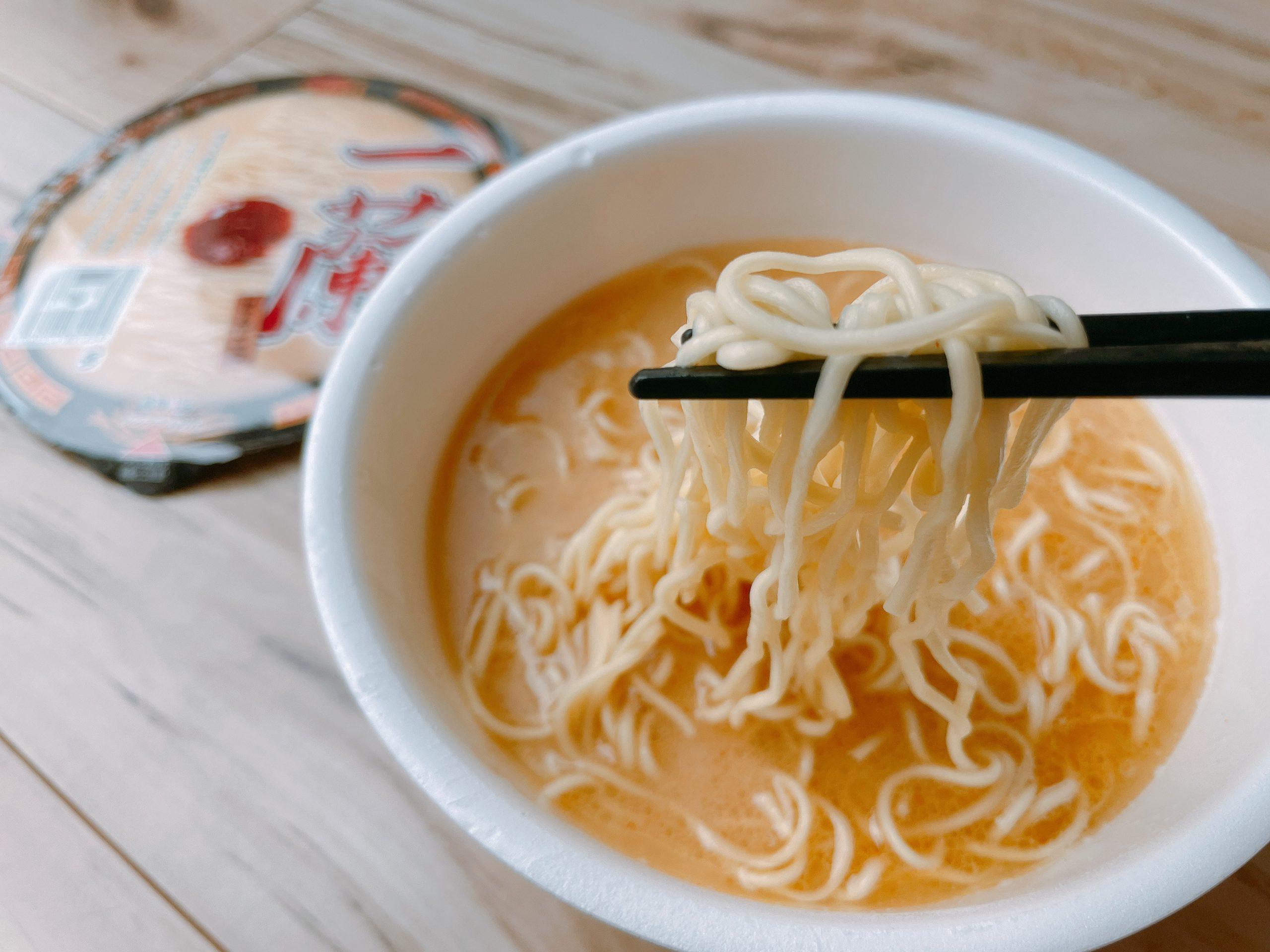 一蘭カップ麺の麺