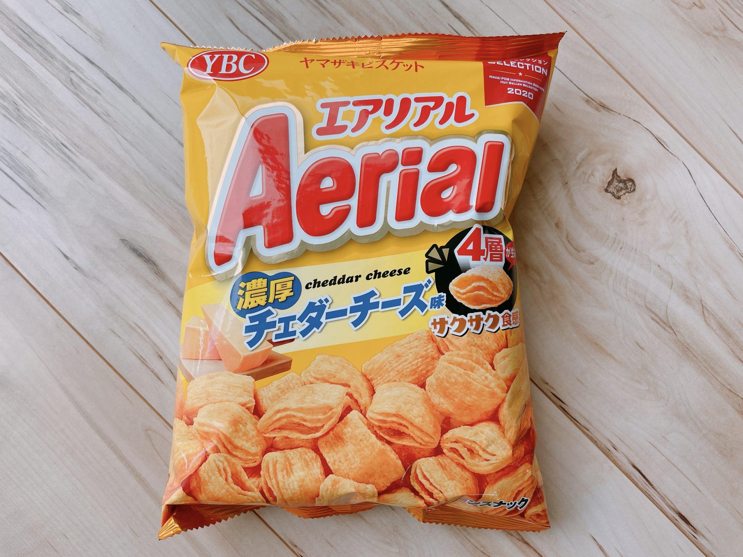 エアリアル濃厚チェダーチーズ味のパッケージ