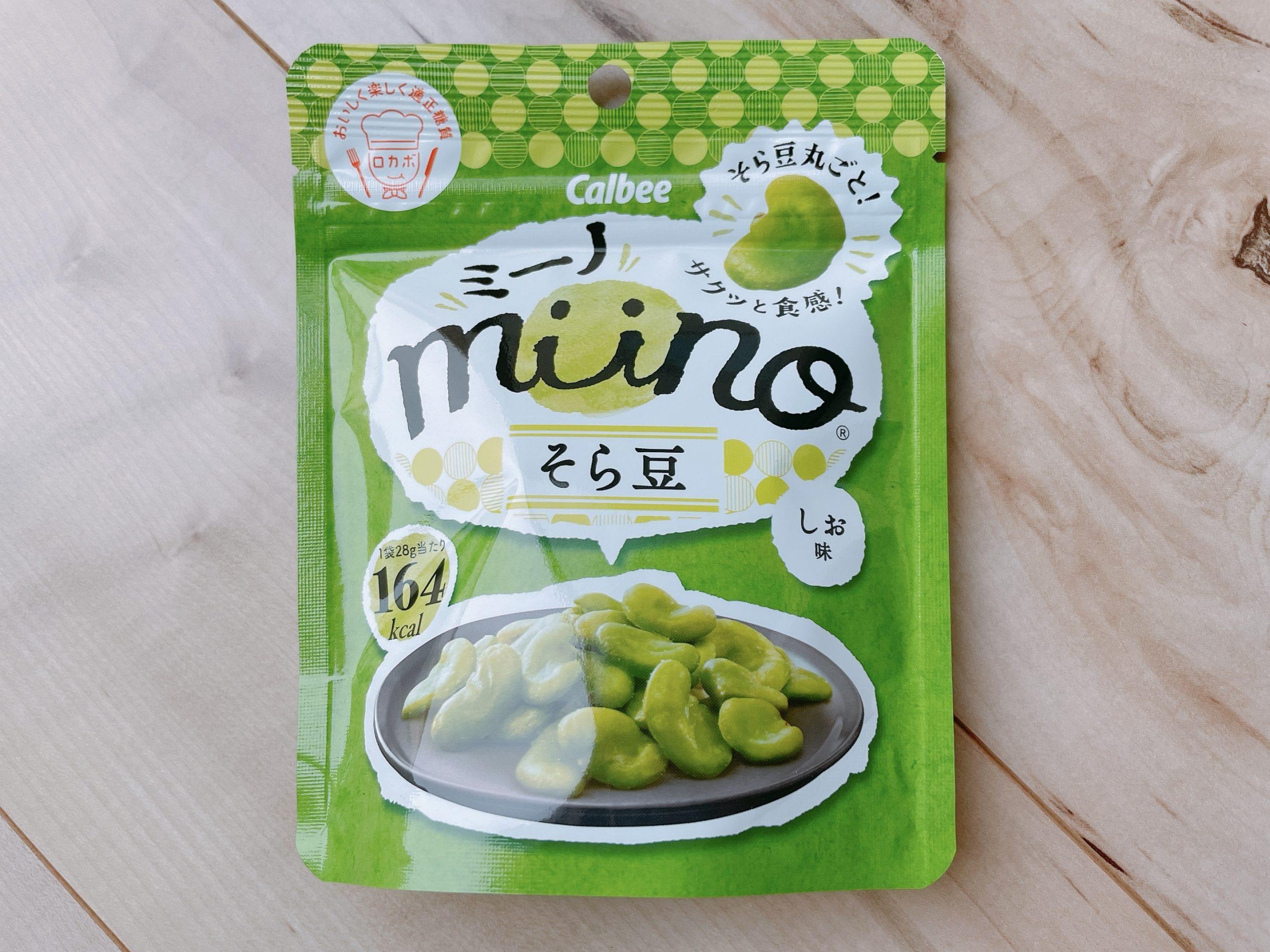 ミーノ<そら豆しお味>のパッケージ
