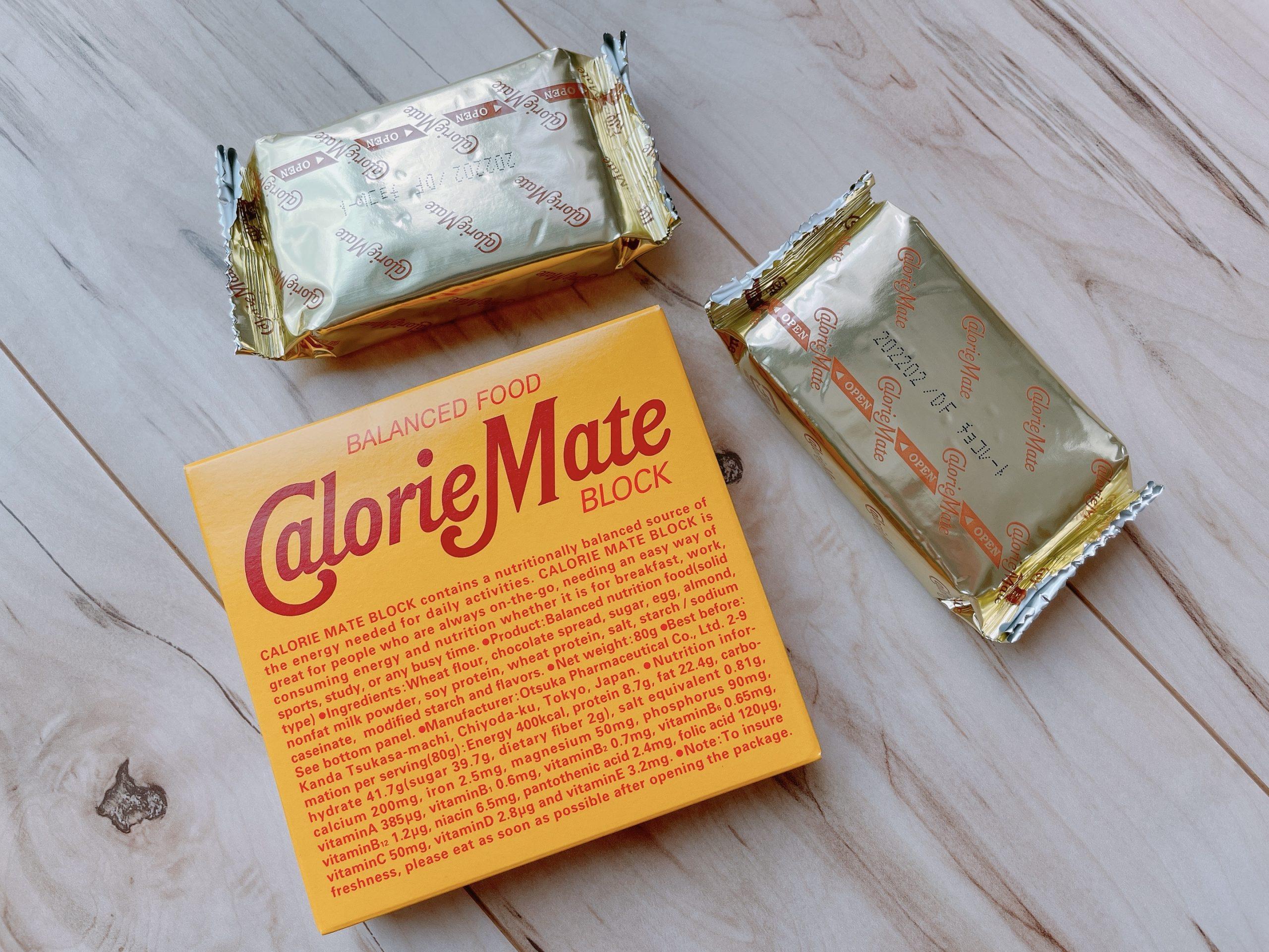 カロリーメイト ブロック チョコレート味、開封4個入り
