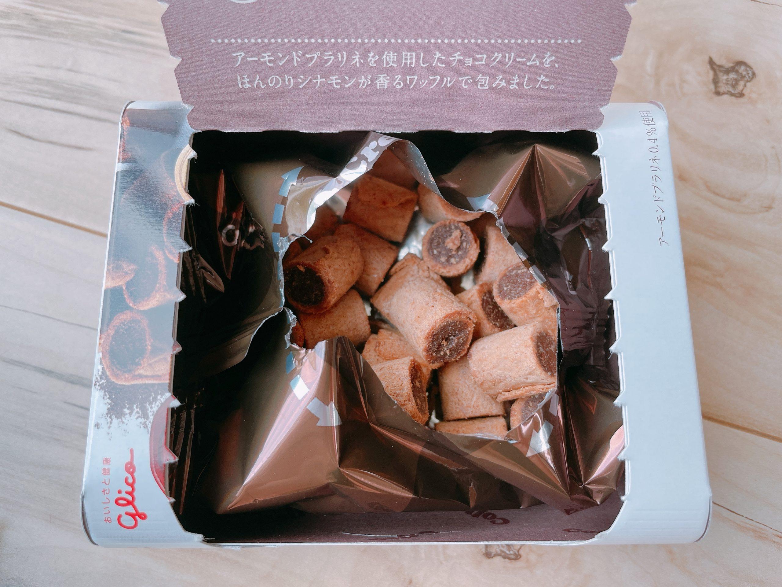 クリームコロン<大人のショコラ>は、開封するとシナモンの香り
