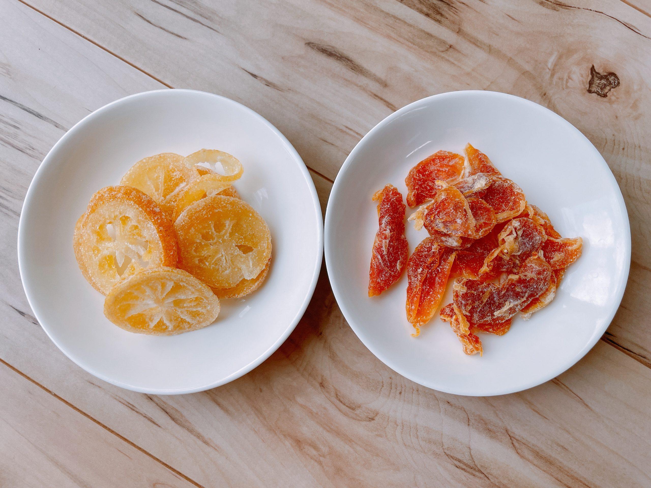南信州菓子工房の輪切りレモンと完熟みかんの組み合わせがおすすめ